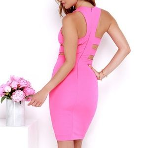 Lulu's As You Are Bodycon Midi Dress